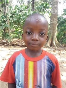 Choose a child to sponsor, like this little boy from Imperi, Amara age 5