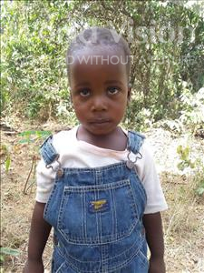 Yanguba, aged 3, from Sierra Leone, is hoping for a World Vision sponsor
