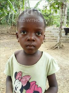 Choose a child to sponsor, like this little girl from Imperi, Jeneba age 4