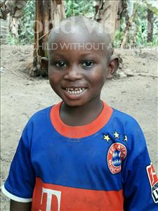 Momoh, aged 3, from Sierra Leone, is hoping for a World Vision sponsor
