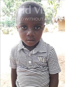 Choose a child to sponsor, like this little boy from Imperi, Abass age 4