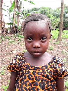 Katumu, aged 4, from Sierra Leone, is hoping for a World Vision sponsor
