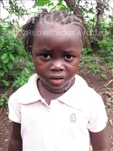 Choose a child to sponsor, like this little girl from Imperi, Memunatu age 3