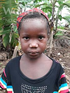 Choose a child to sponsor, like this little girl from Imperi, Nancy age 6