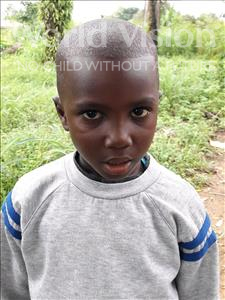 Choose a child to sponsor, like this little boy from Imperi, Amidu age 6