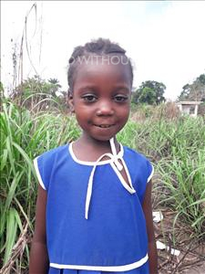 Choose a child to sponsor, like this little girl from Tegloma, Mariama age 6
