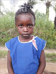 Choose a child to sponsor, like this little girl from Tegloma, Kadie age 5