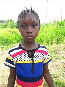 Choose a child to sponsor, like this little girl from Tegloma, Wuyata age 7