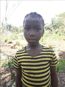 Choose a child to sponsor, like this little girl from Tegloma, Iye age 5