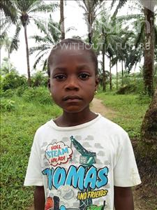 Memmunatu, aged 6, from Sierra Leone, is hoping for a World Vision sponsor