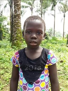 Choose a child to sponsor, like this little girl from Tegloma, Mamie age 7