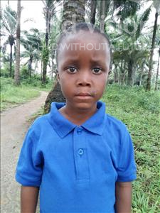 Choose a child to sponsor, like this little boy from Tegloma, Augustine age 2