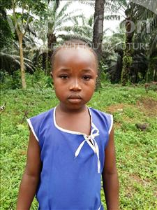 Musu, aged 6, from Sierra Leone, is hoping for a World Vision sponsor