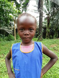 Choose a child to sponsor, like this little girl from Tegloma, Mary Kadija age 5