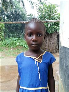 Choose a child to sponsor, like this little girl from Tegloma, Fatmata age 5