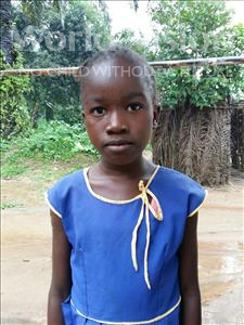Doris, aged 7, from Sierra Leone, is hoping for a World Vision sponsor