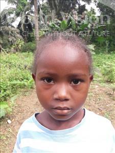 Choose a child to sponsor, like this little girl from Jaiama Bongor, Haja age 6