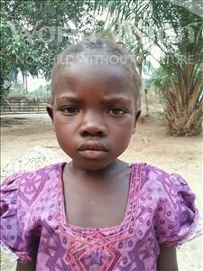 Choose a child to sponsor, like this little girl from Jaiama Bongor, Satta age 7