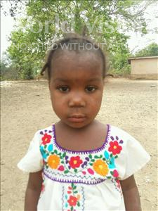 Adama, aged 4, from Sierra Leone, is hoping for a World Vision sponsor