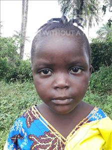 Choose a child to sponsor, like this little girl from Jaiama Bongor, Sattu age 5