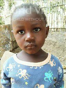 Choose a child to sponsor, like this little girl from Jaiama Bongor, Mariatu age 3