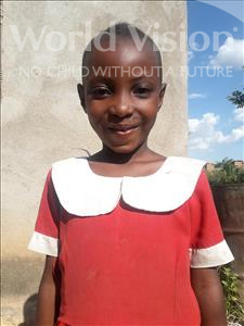 Choose a child to sponsor, like this little girl from Kilimatinde, Eveline Adamu age 6