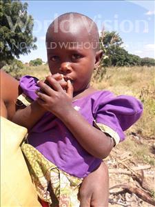 Choose a child to sponsor, like this little girl from Kilimatinde, Sazana Samwel age 2