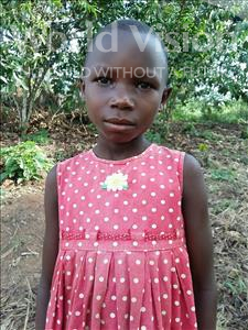 Choose a child to sponsor, like this little girl from Kibiga-Mulagi, Immacurate age 8