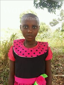 Choose a child to sponsor, like this little girl from Kibiga-Mulagi, Harriet age 10