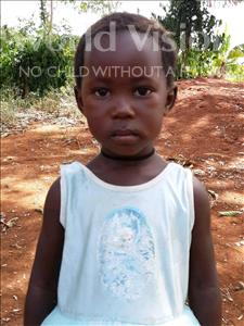 Choose a child to sponsor, like this little girl from Ntwetwe, Venitor age 3
