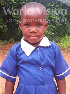Shamilah, aged 3, from Uganda, is hoping for a World Vision sponsor