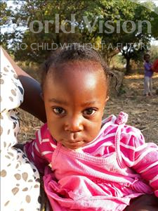 Choose a child to sponsor, like this little girl from Keembe, Keord F C age 2