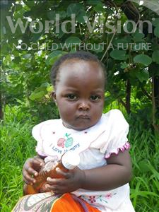 Choose a child to sponsor, like this little girl from Keembe, Hambalo age 1
