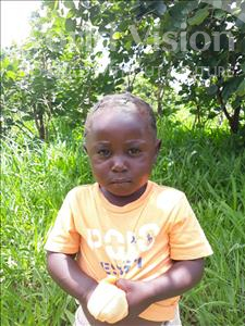 Choose a child to sponsor, like this little girl from Keembe, Prinsence age 3