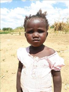 Mary, aged 3, from Zambia, is hoping for a World Vision sponsor