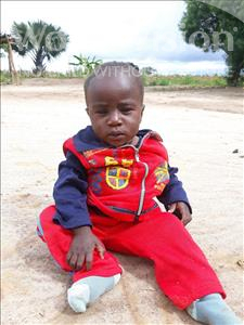 Choose a child to sponsor, like this little boy from Keembe, Enerst age 1