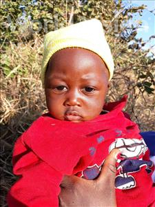 Choose a child to sponsor, like this little girl from Keembe, Shinchende age under 1