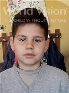 Choose a child to sponsor, like this little boy from Shkodra, Saimir age 10