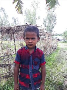 Choose a child to sponsor, like this little boy from Ghoraghat, Joni age 5
