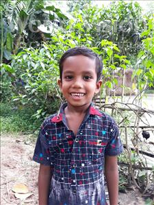 Choose a child to sponsor, like this little boy from Ghoraghat, Rimon age 5