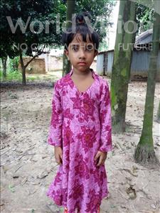 Choose a child to sponsor, like this little girl from Ghoraghat, Jahan Nuri age 6