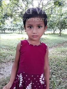 Choose a child to sponsor, like this little girl from Ghoraghat, Muntahina Bushra age 4