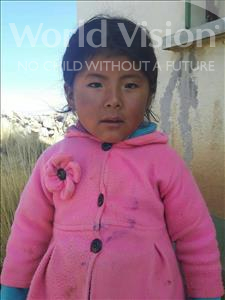 Jhanet, aged 4, from Bolivia, is hoping for a World Vision sponsor