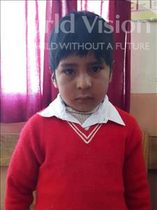 Choose a child to sponsor, like this little boy from Khantati, Yerco age 7