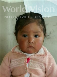 Choose a child to sponsor, like this little girl from Khantati, Nayzel age 1