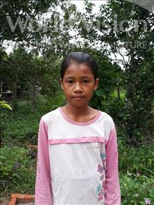 Choose a child to sponsor, like this little girl from Soutr Nikom, Sokmaly age 12