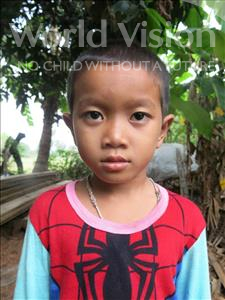 Choose a child to sponsor, like this little boy from Soutr Nikom, Bora age 6