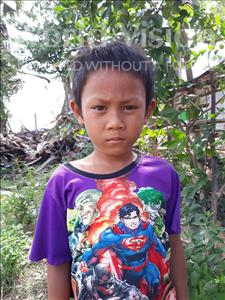 Choose a child to sponsor, like this little boy from Soutr Nikom, Khav age 7