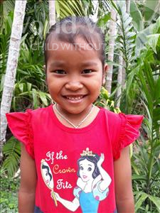 Sreylis, aged 7, from Cambodia, is hoping for a World Vision sponsor