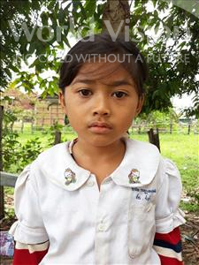 Choose a child to sponsor, like this little girl from Soutr Nikom, Rachna age 7